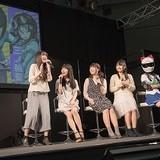 """「ばくおん!!」放送直前イベントで、上田麗奈らメインキャストが集う クイズの罰ゲームで""""口バイク""""を披露"""
