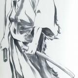 「血煙の石川五ェ門」監督・小池健が描く五ェ門の掛け軸が「ISETAN×ルパン三世」で先行受注販売