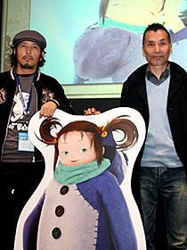 りんたろう監督の新作に海外からも熱い注目 (左から)寺田克也、りんたろう監督「よなよなペンギン」