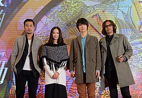 上海での会見に出席した三浦春馬、行定勲監督と 共演のリウ・シーシー、ジョセフ・チャン