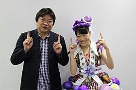 「2015年 神戸三宮映画祭」に参加した本広克行監督と高城れに「幕が上がる」