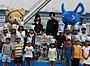 梶裕貴&神田沙也加、30メートルの水柱に大興奮!雨天でも「テンション上がった」