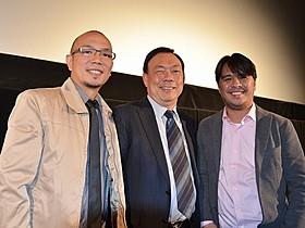 フィリピン映画界の第3黄金期について語った(左から) ポール・サンタ・アナ監督、ウィルソン・ティエン氏、 ローレンス・ファハルド監督「インビジブル」