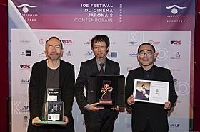 (左から)塚本晋也監督、 小川真司プロデューサー(『味園ユニバース』)、武正晴監督「味園ユニバース」