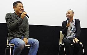 トークを繰り広げた想田和弘監督と塚本晋也監督「野火」