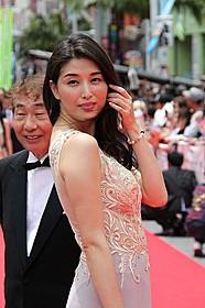 沖縄映画祭に参加した蛭子能収と橋本マナミ