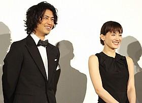 爆笑トークを繰り広げた綾瀬はるかと斎藤工「高台家の人々」