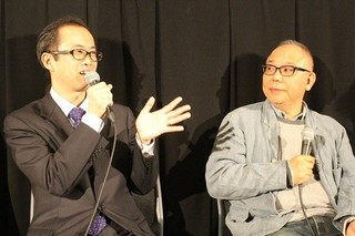 犬童一心(右)と山内章弘氏「シン・ゴジラ」