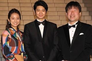 ドレスアップした向井理、木村文乃、佐藤二朗「君の名は。」