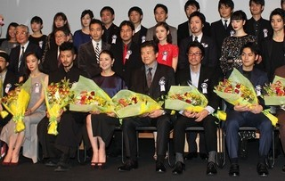 授賞式に出席した三浦友和、オダギリジョー、 小泉今日子、蒼井優、松岡茉優、小松菜奈ら「葛城事件」