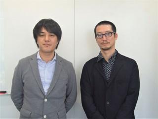 (左から)江崎慎平監督と岸本卓「モンスターストライク THE MOVIE はじまりの場所へ」