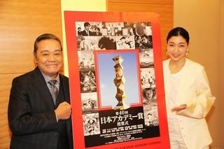 インタビューに応じた西田敏行&安藤サクラ「百円の恋」