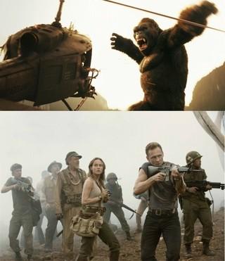 コングが巨大タコと戦うシーンも「GODZILLA ゴジラ」