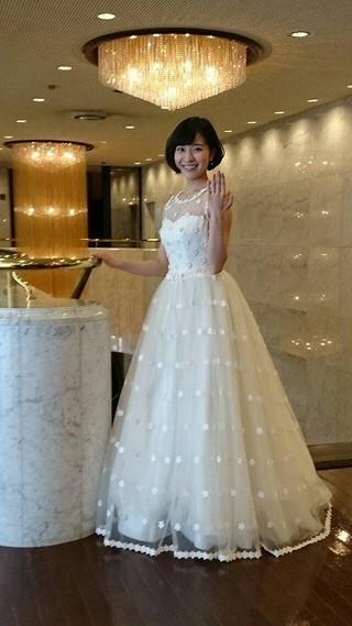 人生初のウエディングドレス!